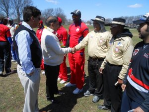 The Umpires were part of the pre-match introduction