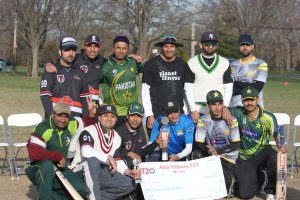 Challengers CC show off their winners check