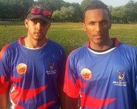 Marlon Persaud (l) 4/22 and And Harricharran (r) 98 lead Liberty back to winners row