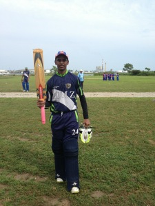 Amarnauth Persaud added another EACA century for ACS/Everest vs. Gladiators