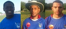 from r-l Marlon Persaud and Hassan both score half centuries and Madramootoo bagged a fifer