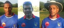 from r-l LSC's Imitaz Hassan 25 and 2 wickets, Dilly Khilawan 37 and Andy Harricharran 49 vs. Victory CC