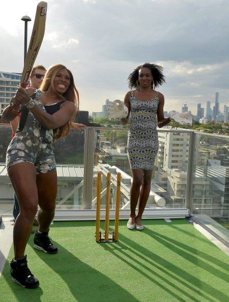 US Tennis Champions Venus and Serena Williams, trying their hands at one of America's oldest sport