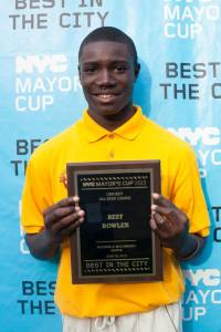 NYC Mayor's Cup 2013 Best Bowler and H.S. for Construction Senior Keifer Phill