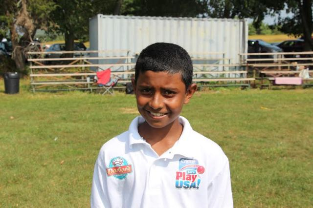 CLPUSA U-13 Left-arm Fast Medium bowler worked arduously to keep the runs in check