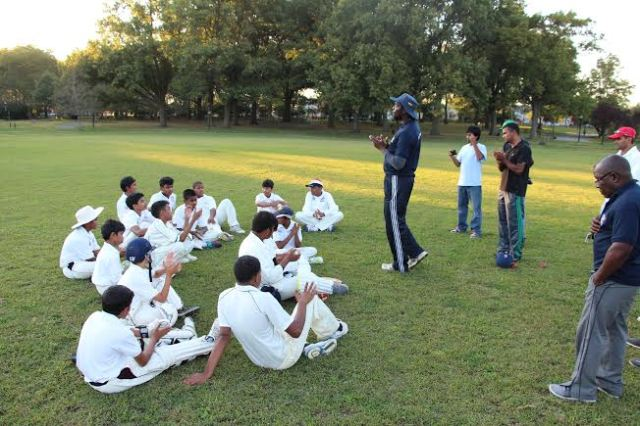 Coach Ravello recaps the days' proceedings with New York's Cricket Let's Play USA players