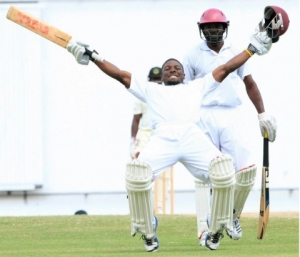 Jahmar Hamilton, scored 94 and 125 in a valiant attempt to save the Leewards versus the Winwards